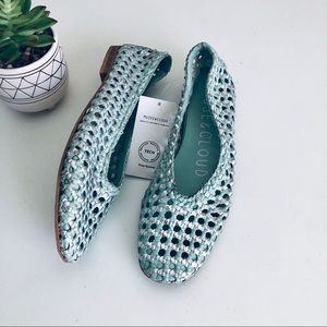 Anthro Musse & Cloud Basketweave Leather Flats